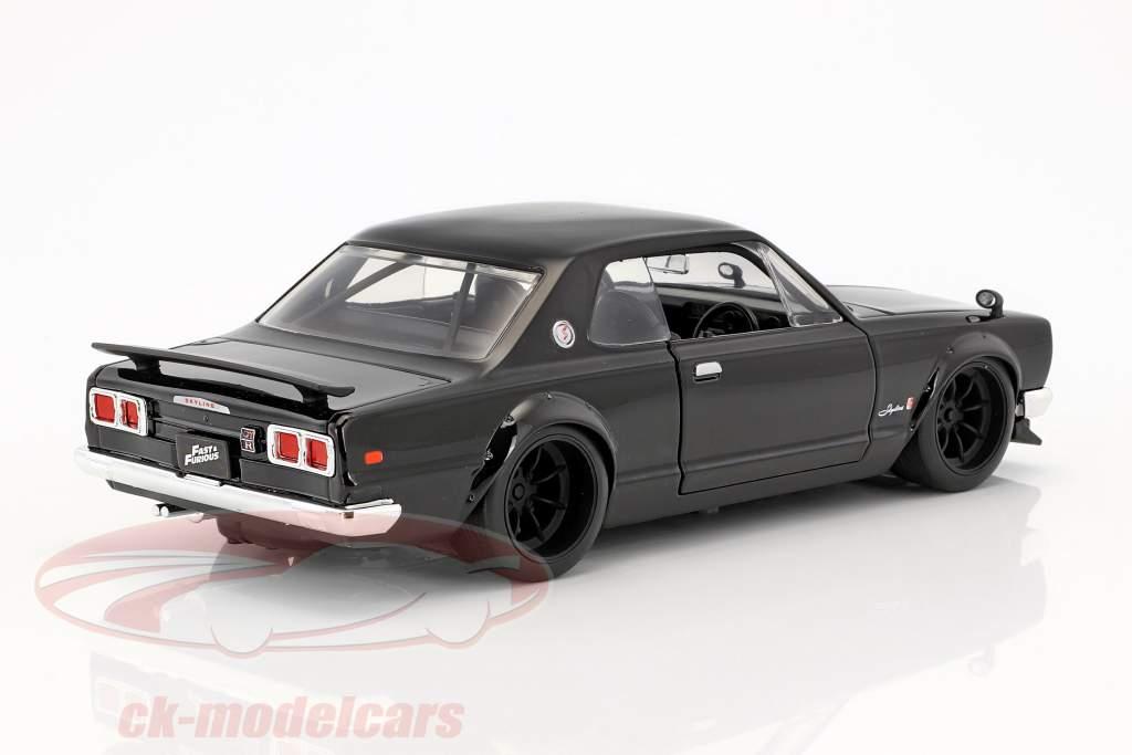 Brian's Nissan Skyline 2000 GTR película Fast & Furious Five (2011) negro 1:24 Jada Toys