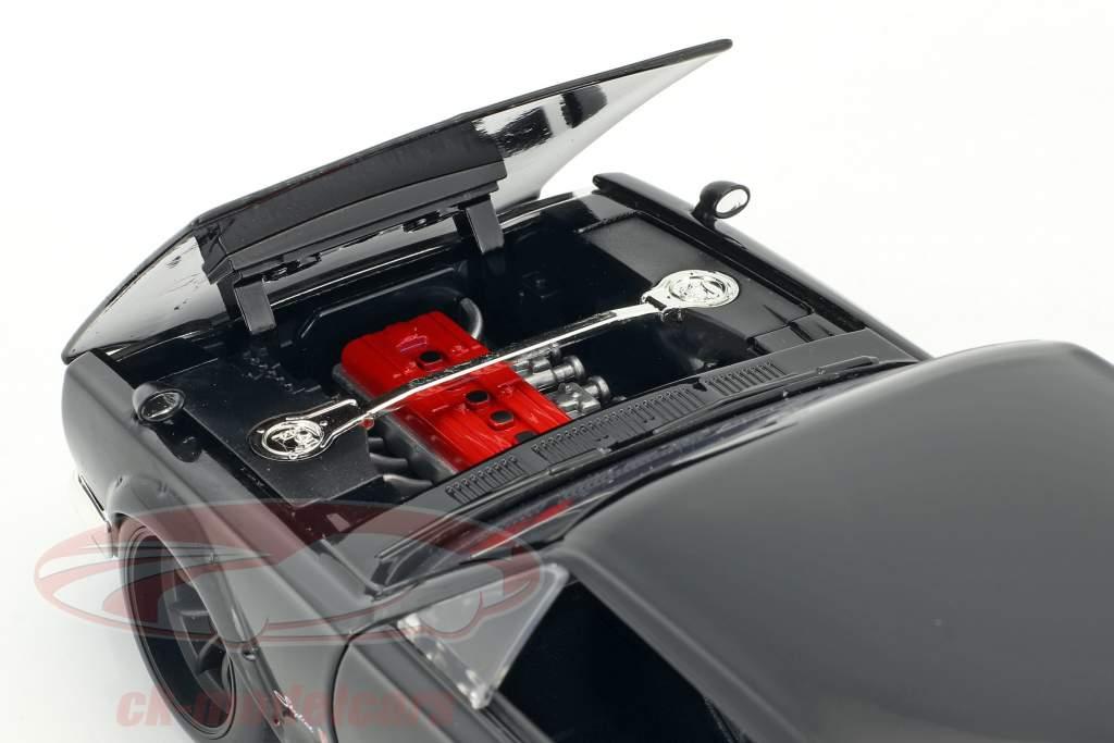 Brian's Nissan Skyline 2000 GTR film Fast & Furious Five (2011) sort 1:24 Jada Toys