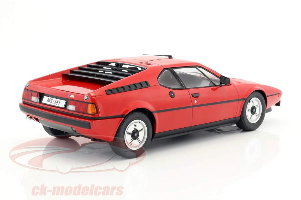 BMW M1 (E26) Street Opførselsår 1978 rød 1:12 KK-Scale