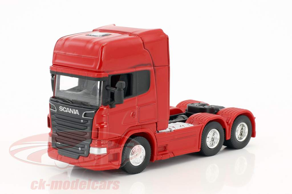 Scania V8 R730 (6x4) red 1:64 Welly