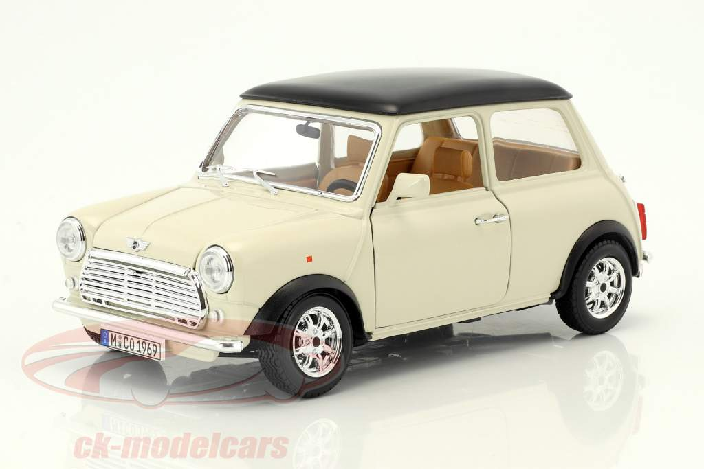 Mini Cooper year 1969 cream 1:18 Bburago
