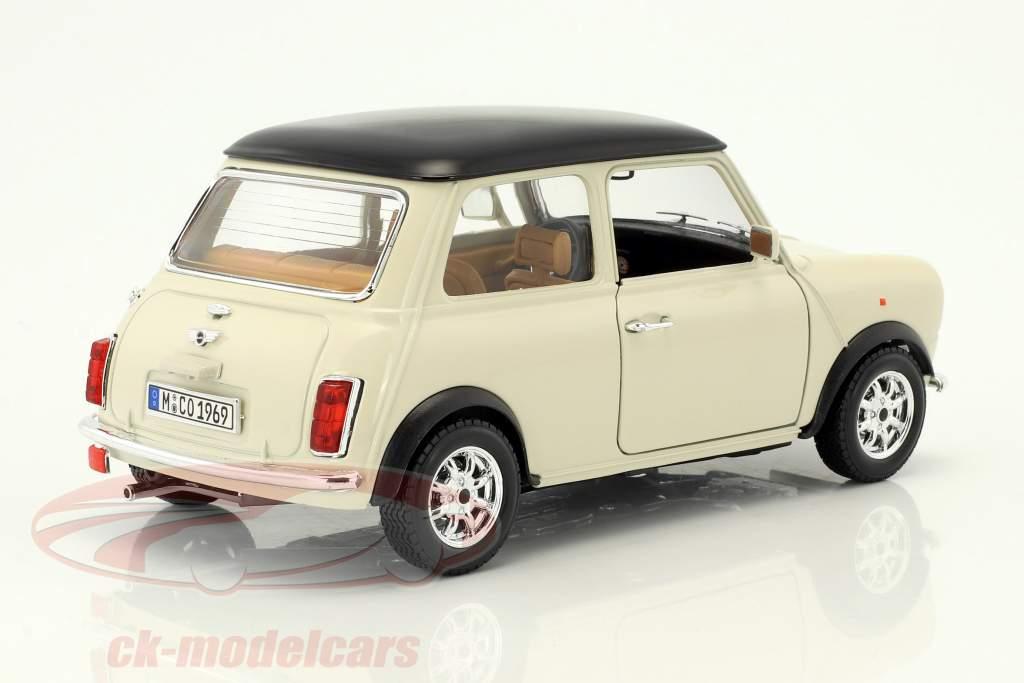 Mini Cooper año 1969 crema 1:18 Bburago
