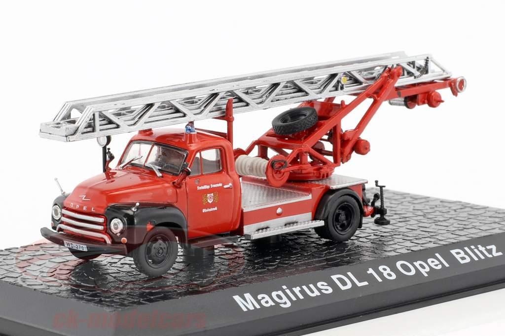 Magirus DL 18 Opel Blitz departamento de bomberos Wiedenbrück 1:72 Altaya
