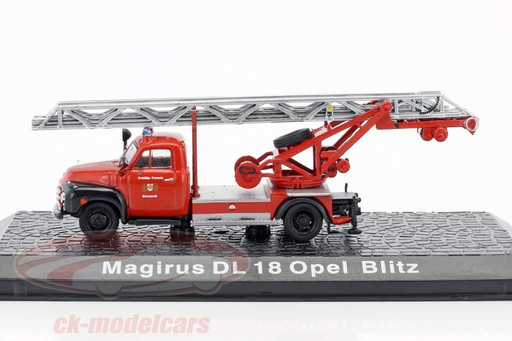 Magirus DL 18 Opel Blitz brandvæsen Wiedenbrück 1:72 Altaya