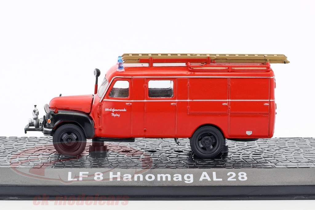 Hanomag AL28 LF8 fabriek brandweer Töging 1:72 Altaya