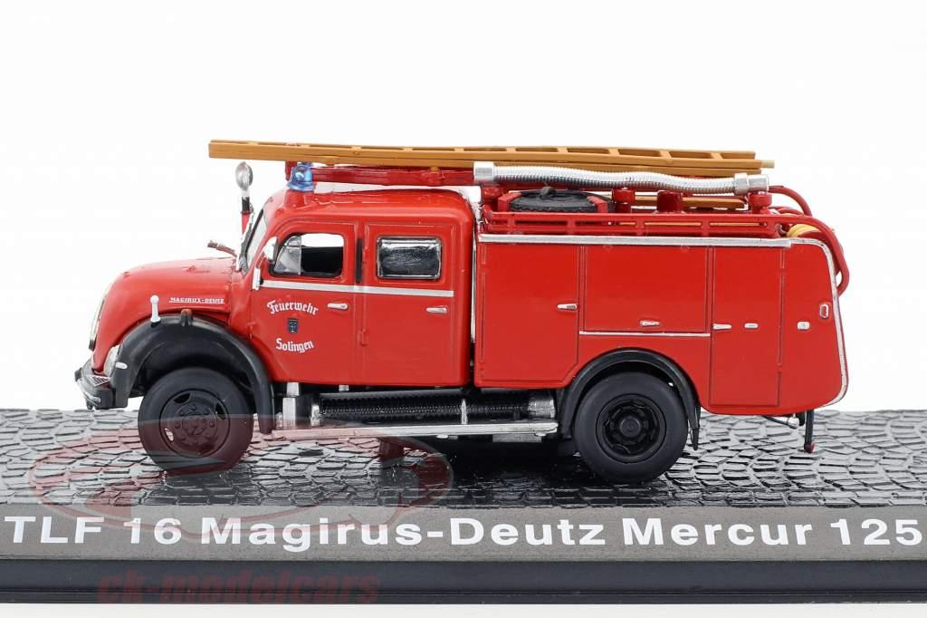 Magirus Deutz Mercur 125A TLF 16 brandweer Solingen 1:72 Altaya