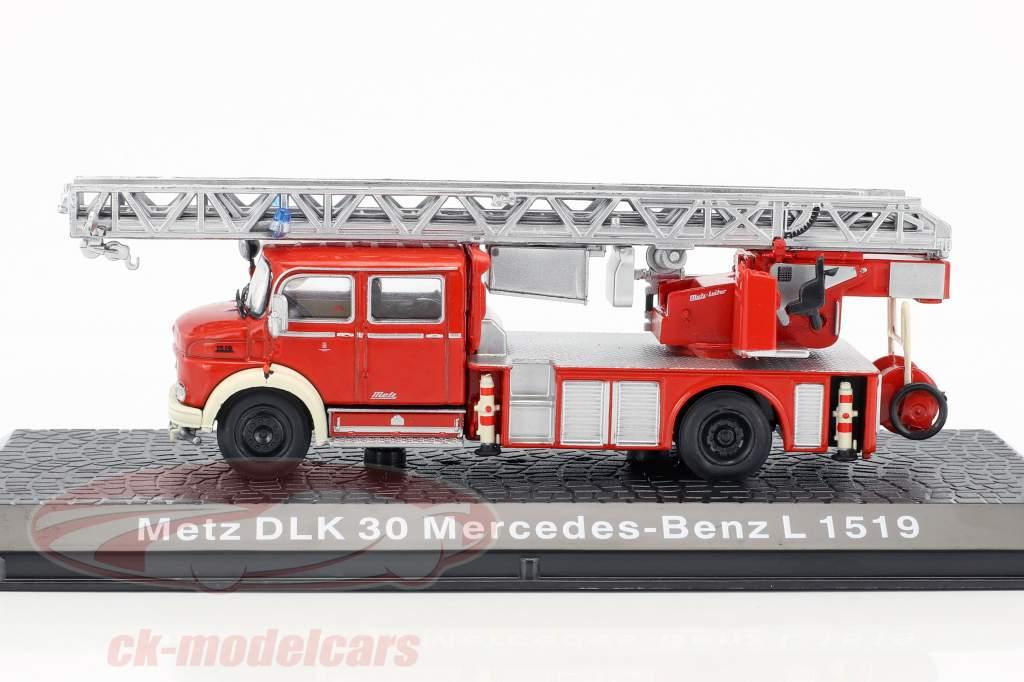 Mercedes-Benz L1519 Metz DLK30 vigili del fuoco 1:72 Altaya