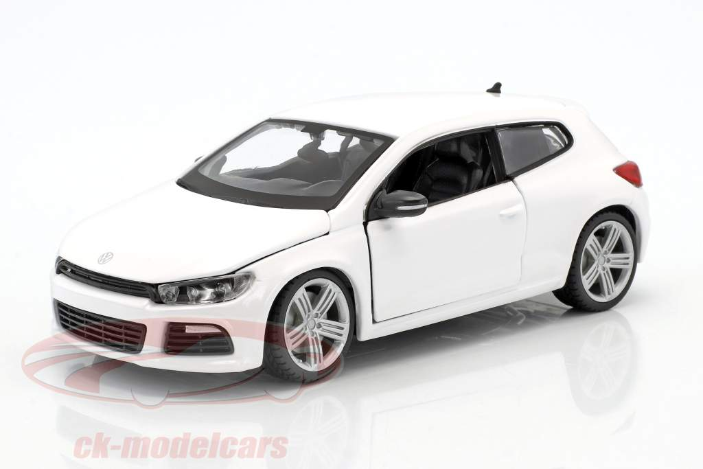 Volkswagen VW Scirocco R year 2009 white 1:24 Bburago