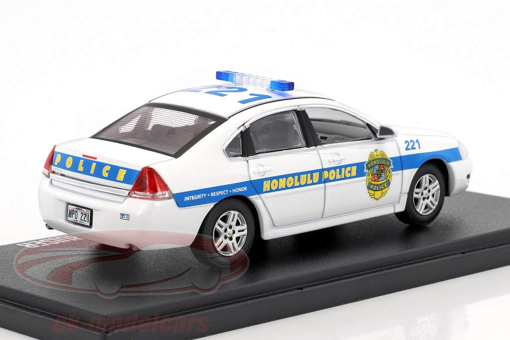 Chevrolet Impala Police Cruiser NYPD 2010 TV-Serie Hawaii Five-O weiß / blau 1:43 Greenlight