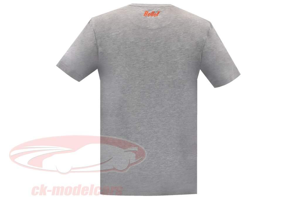 Stefan Bellof T-Shirt Brun 956 Norisring 1984 with frontprint gray