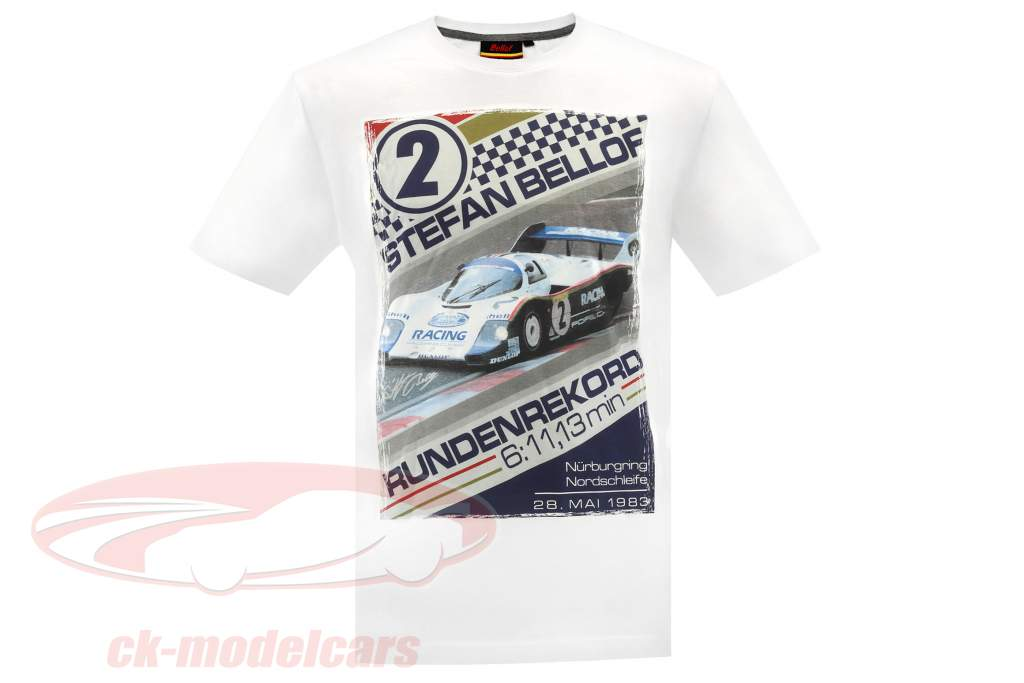 Stefan Bellof T-Shirt regazo registro 6.11,13 min con frontprint blanco