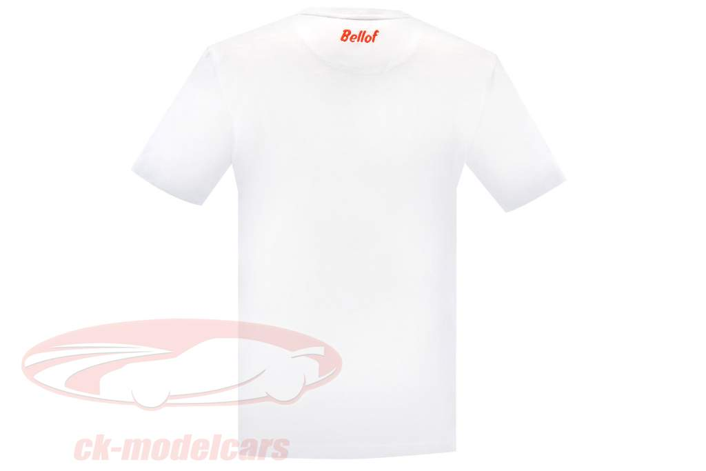 Stefan Bellof T-Shirt colo recorde 6.11,13 min com Frontprint branco