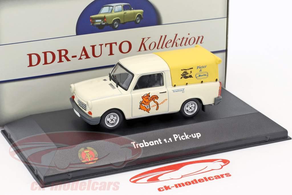 Trabant 1.1 Pick-up branco / amarelo 1:43 Atlas