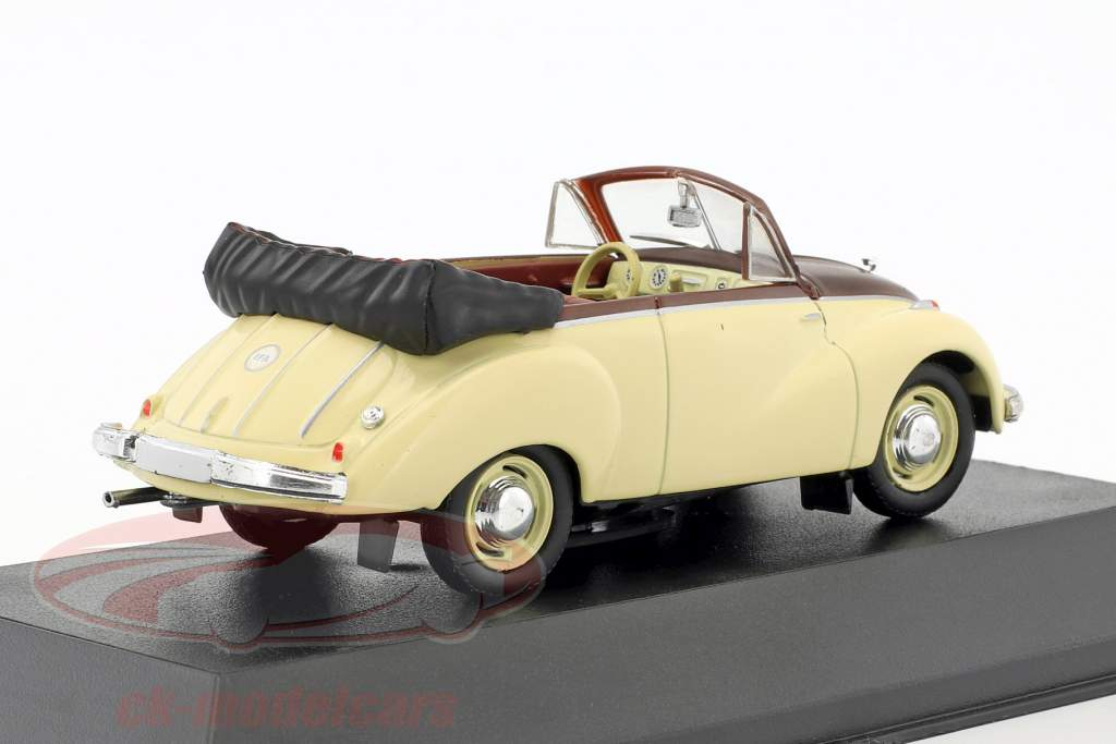 IFA F9 Cabriolet 468 beige / bruin 1:43 Atlas