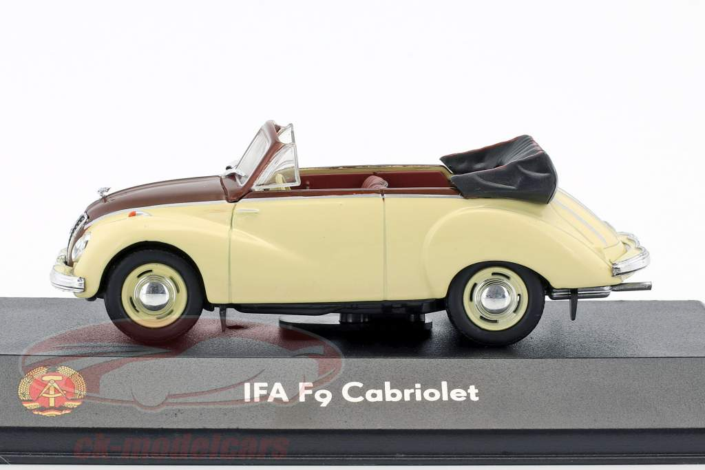 IFA F9 cabriolé 468 bege / marrom 1:43 Atlas