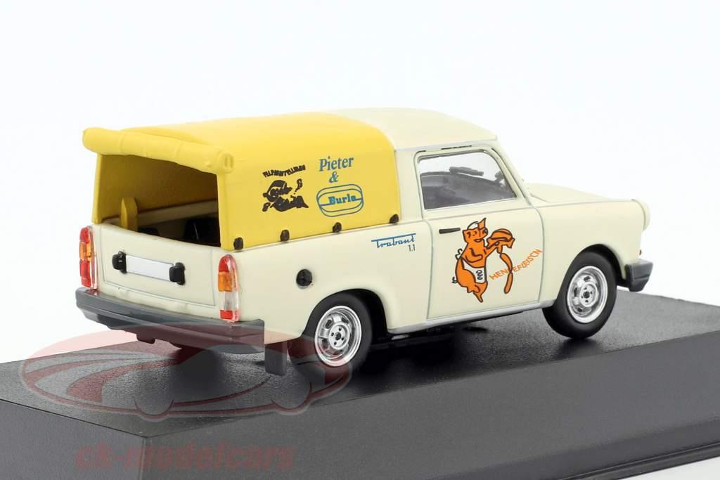 Trabant 1.1 Pick-up wit / geel 1:43 Atlas