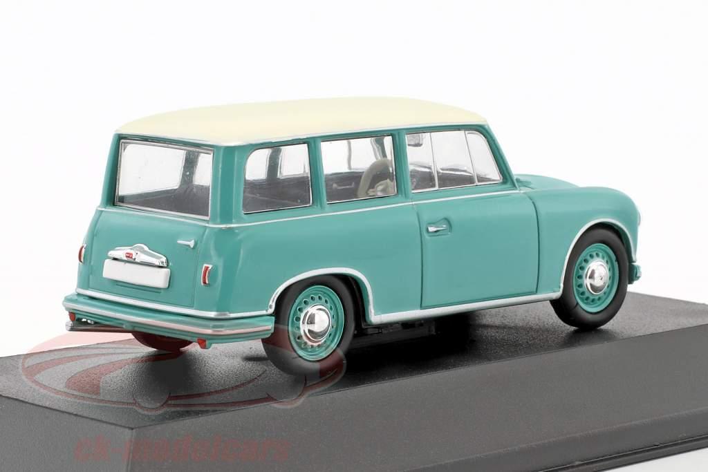 AWZ P70 station wagon turquesa / branco 1:43 Atlas