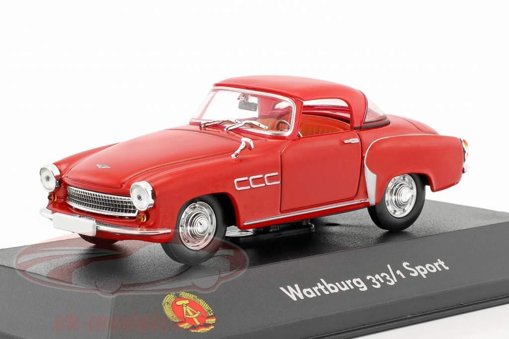 Wartburg 313/1 Sport vermelho 1:43 Atlas