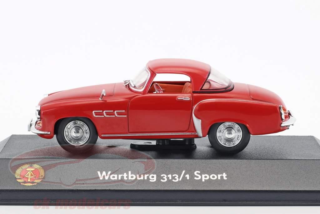 Wartburg 313/1 Sport rød 1:43 Atlas