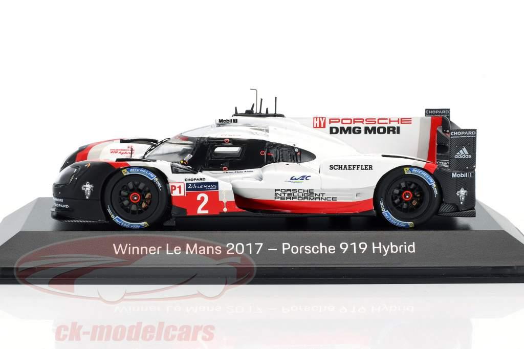 Porsche 919 Hybrid #2 winnaar 24h LeMans 2017 Bernhard, Hartley, Bamber 1:43 Spark