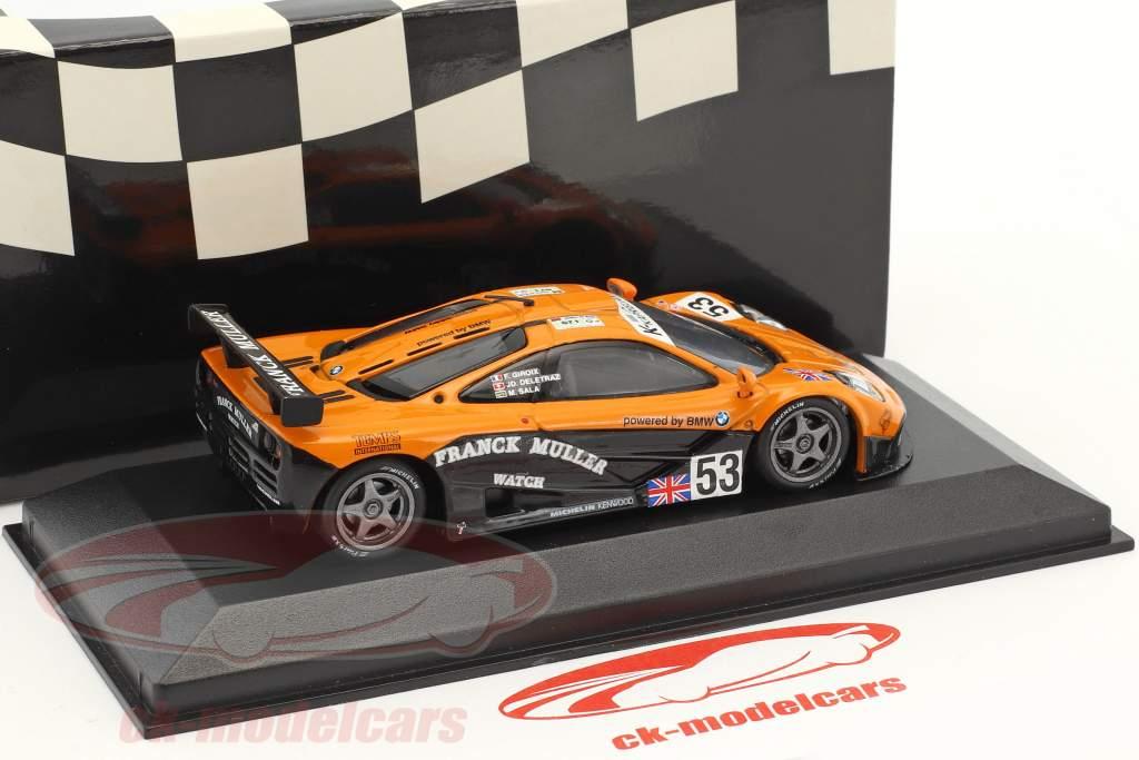 McLaren F1 GTR #53 24h LeMans 1996 Giroix, Deletraz, Sala 1:43 Minichamps falso sovrimballaggio