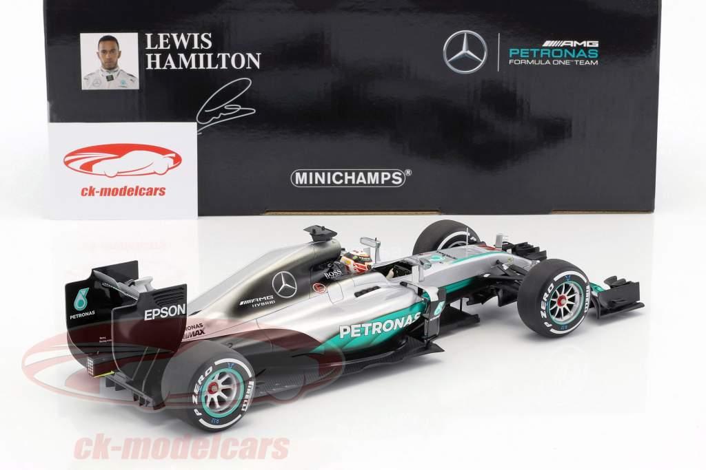 Lewis Hamilton Mercedes F1 W07 Hybrid #44 2nd Australia GP F1 2016 1:18 Minichamps