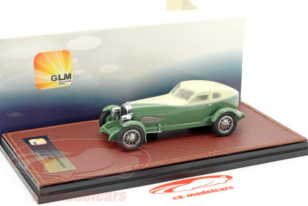 Auburn Cabin Speedster year 1929 cream white / green 1:43 GLM
