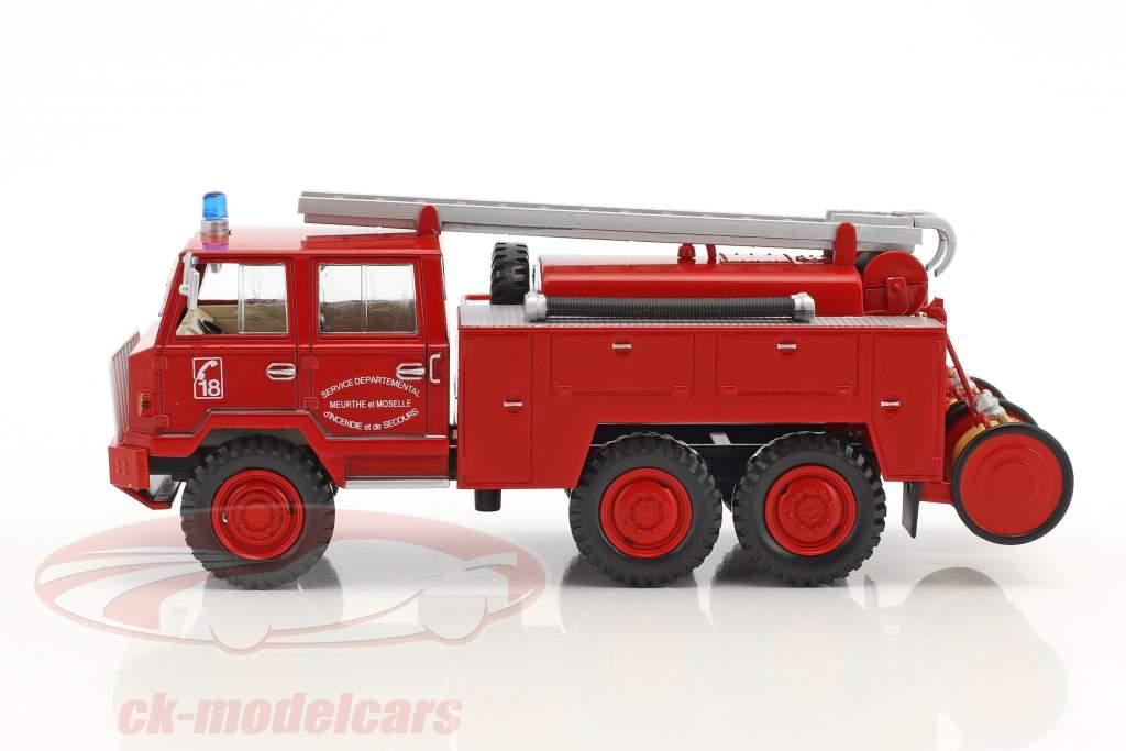 Berliet FF 6x6 FPT HR tanker Truck Fire Engine red 1:43 Atlas