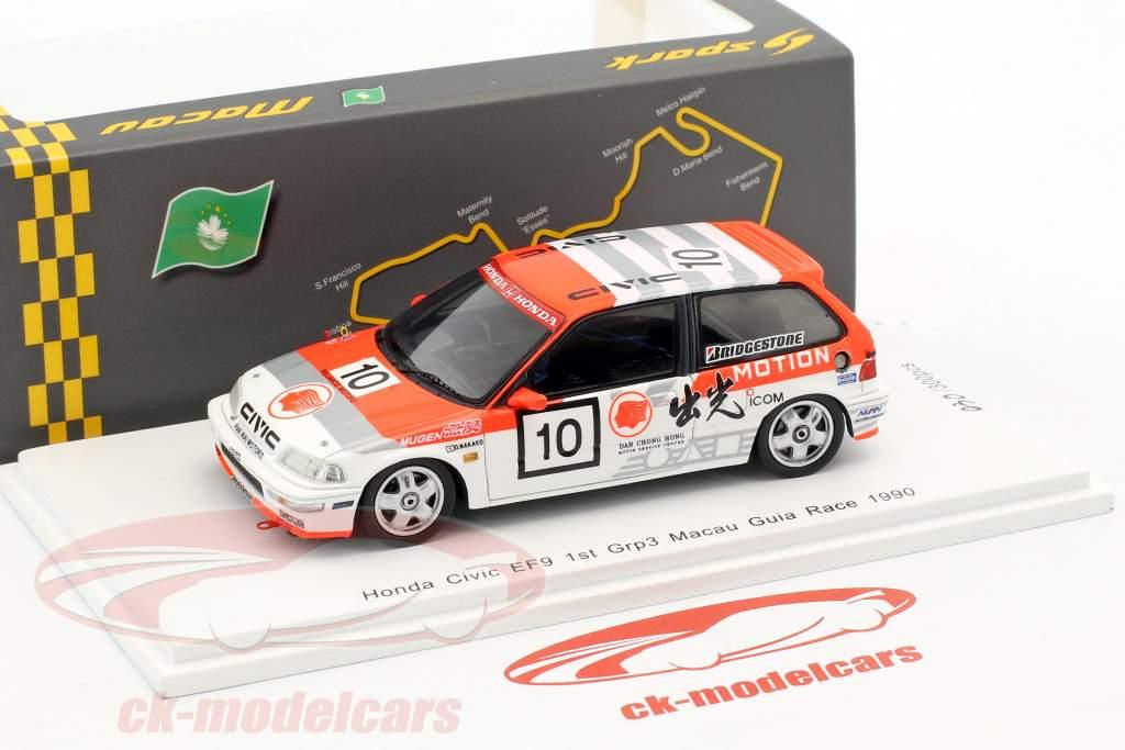 Honda Civic EF9 #10 Winner Div.1 Macau Guia Race 1990 Osamu Nakako 1:43 Spark