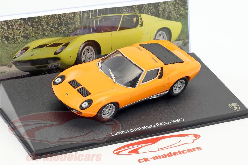 Lamborghini Miura P400 año de construcción 1966 naranja 1:43 Leo Models