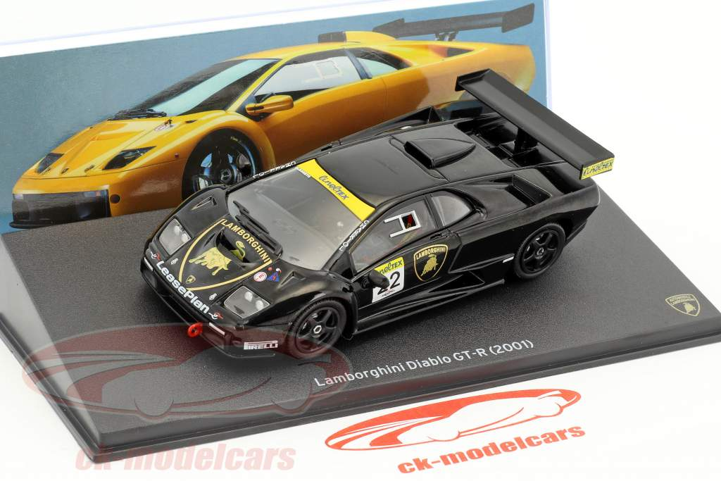 Lamborghini Diablo GT-R #22 negro 1:43 Leo Models