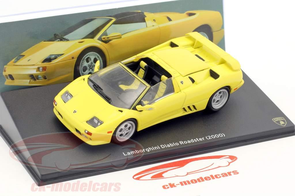 Lamborghini Diablo Roadster año de construcción 2000 amarillo 1:43 Leo Models