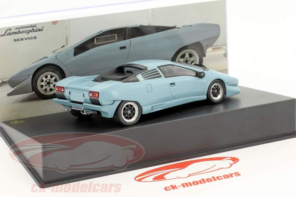 Lamborghini P 132 Baujahr 1986 blau 1:43 Leo Models
