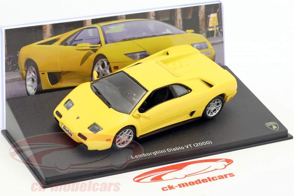 leo models 1 43 lamborghini diablo vt 築 2000 黄色 mag jt12 モデル 車