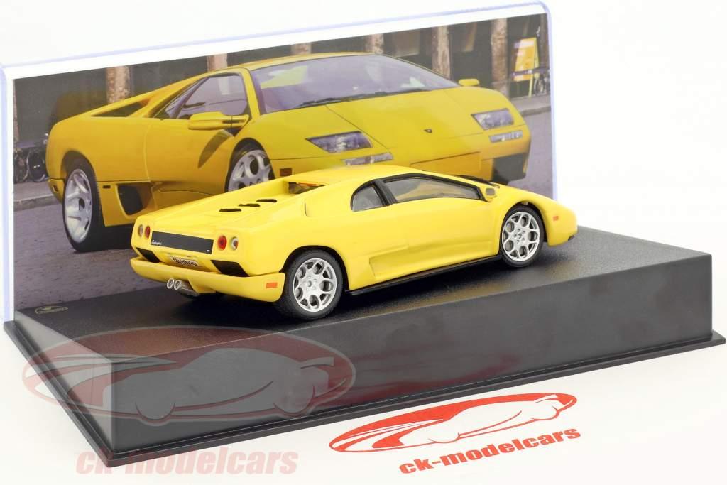 Lamborghini Diablo VT anno di costruzione 2000 giallo 1:43 Leo Models