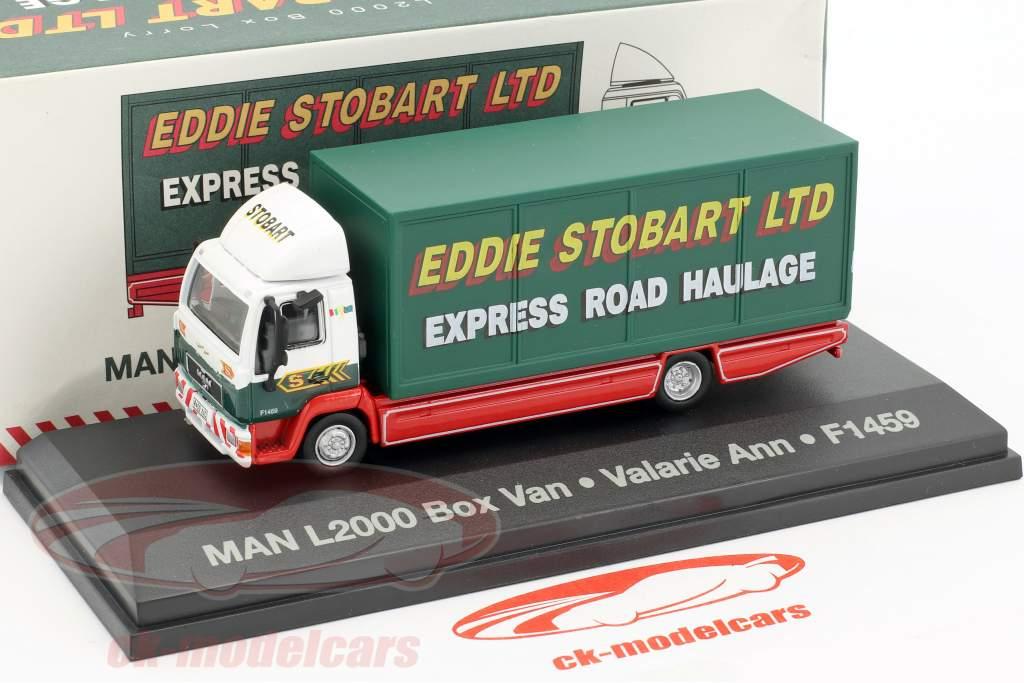 MAN L2000 Box Lorry Valarie Ann F1459 Stobart green / white 1:76 Atlas