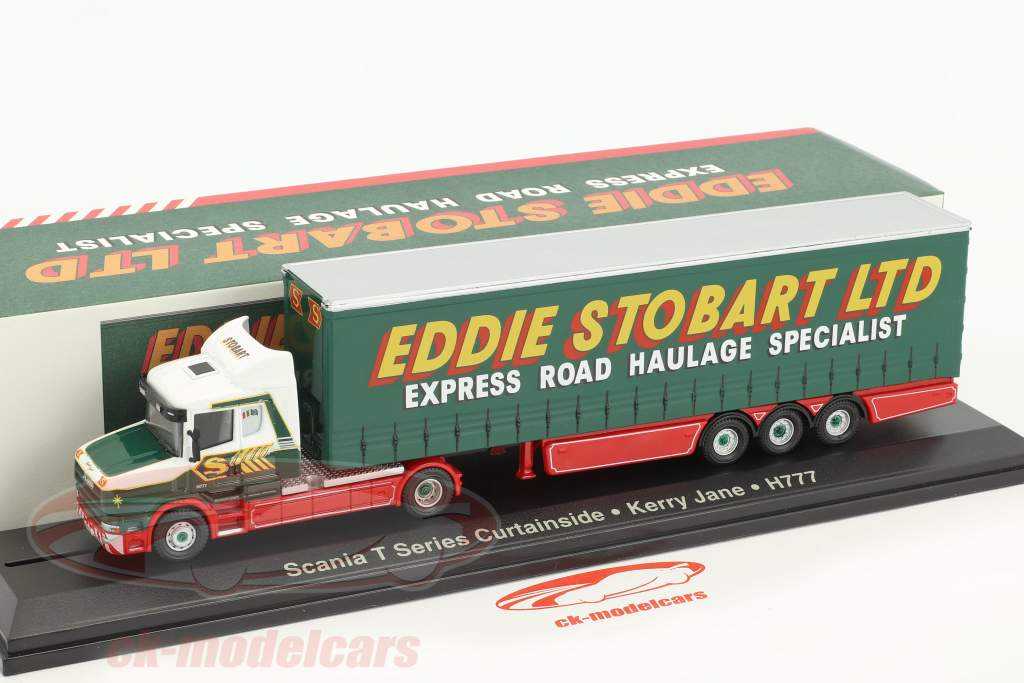 Scania T Series Curtainside Kerry Jane H777 Stobart Power green / white 1:76 Atlas