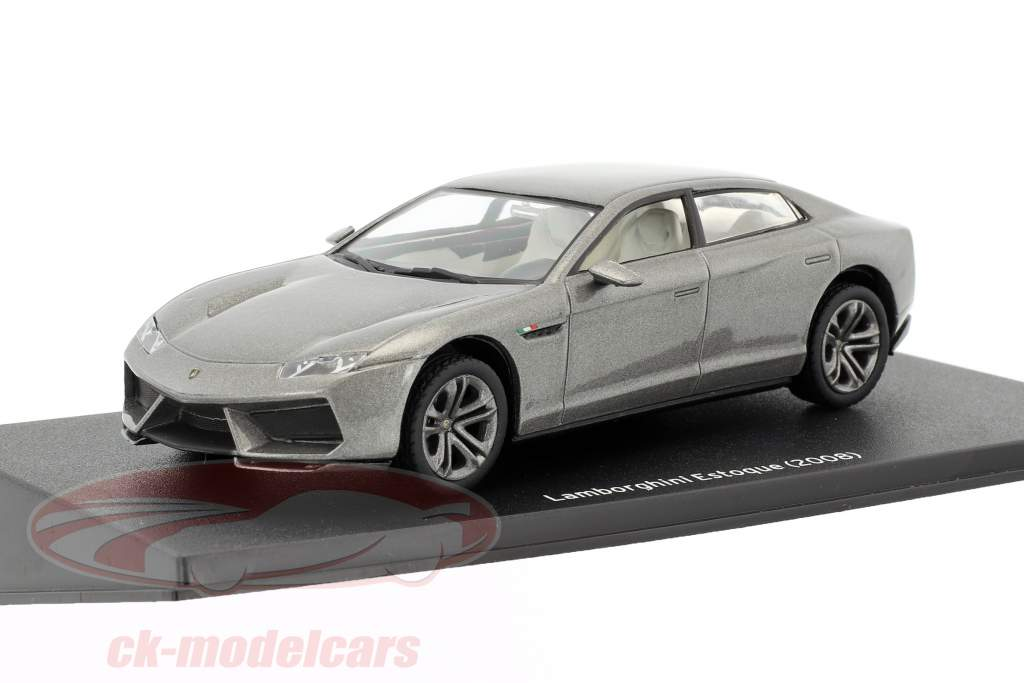 Lamborghini Estoque Bouwjaar 2008 zilver 1:43 Leo Models