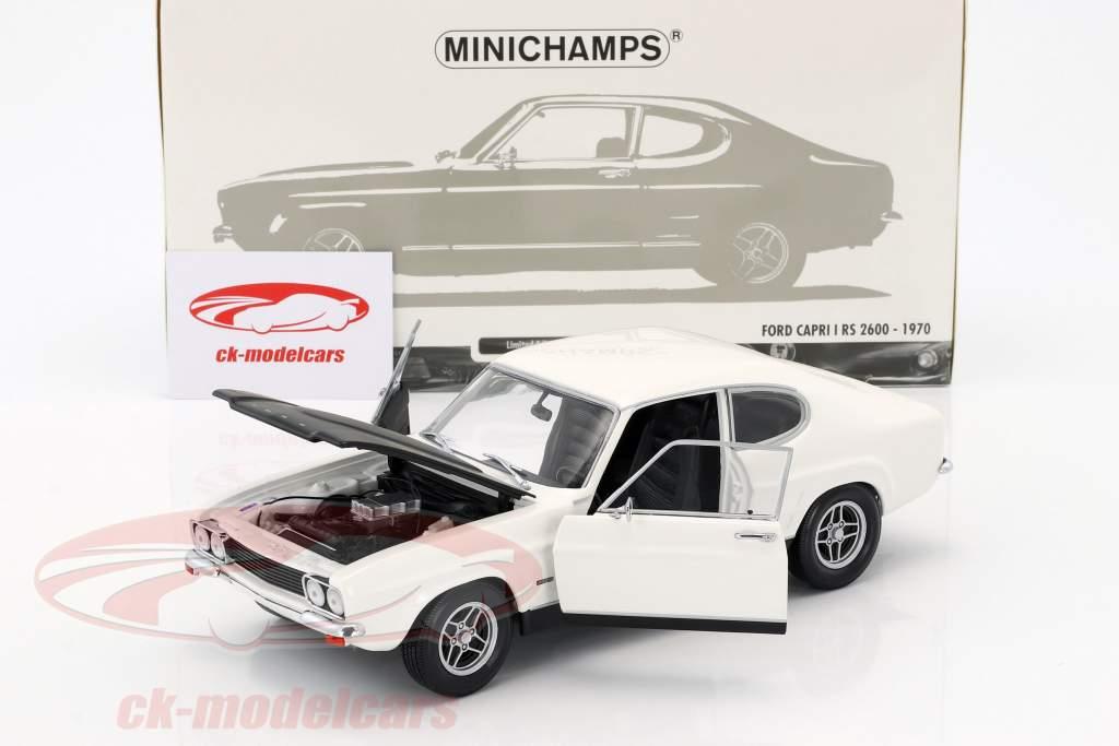 Ford Capri RS 2600 LHD year 1970 white / black 1:18 Minichamps