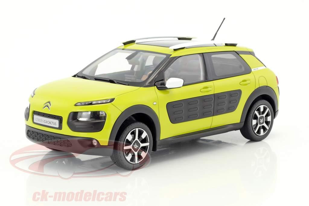 Citroen C4 Cactus año de construcción 2014 amarillo-verde 1:18 Norev