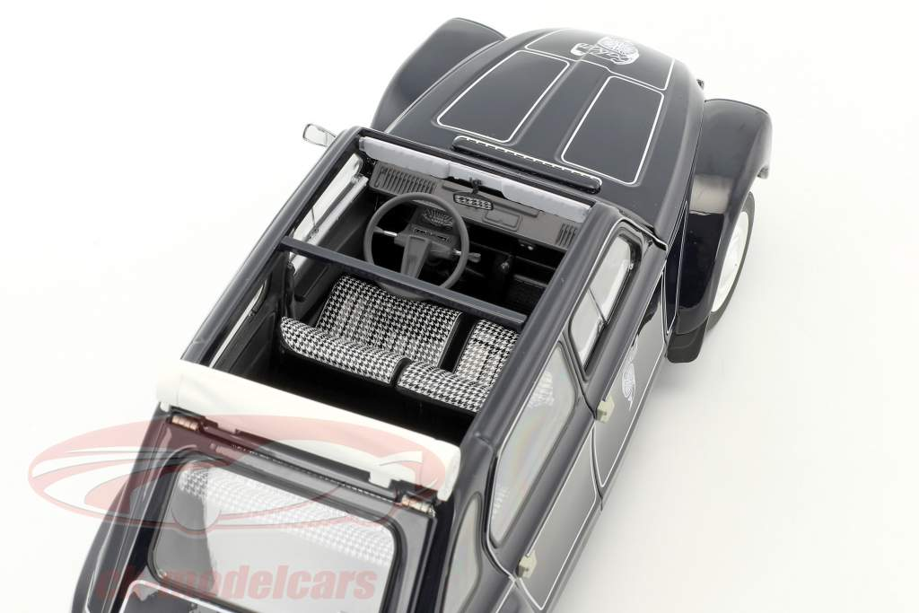 Citroen Dyane 6 Caban mit abnehmbarem Softtop Baujahr 1977 schwarz 1:18 Norev