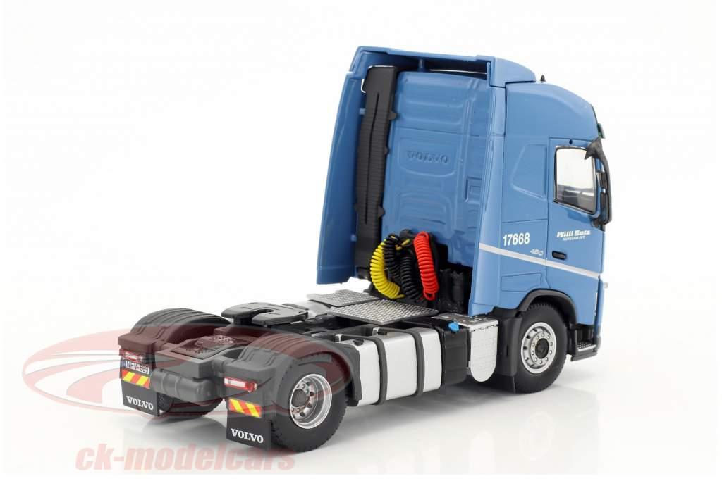 Volvo FH Globetrotter Lowliner Sattelzug Willi Betz blau / gelb 1:50 Herpa