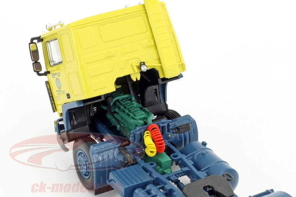Volvo F10 Semi-remorque Container Série TV Auf Achse (1977-1996) jaune / bleu / argent 1:50 Herpa
