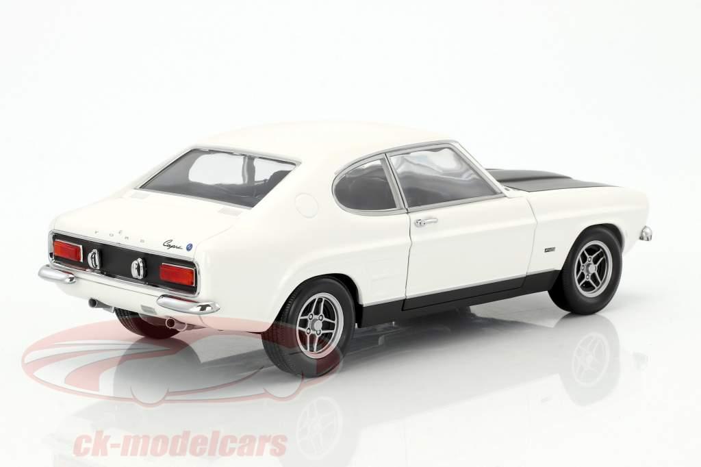 Ford Capri RS 2600 LHD année de construction 1970 blanc / noir 1:18 Minichamps