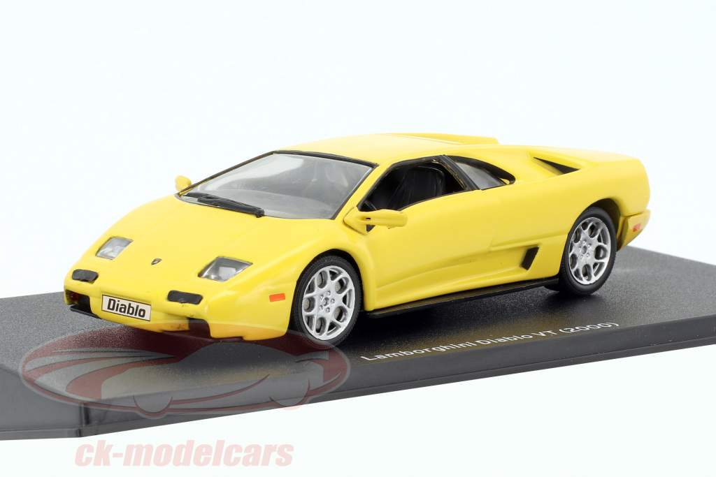 Lamborghini Diablo VT year 2000 yellow 1:43 Leo Models