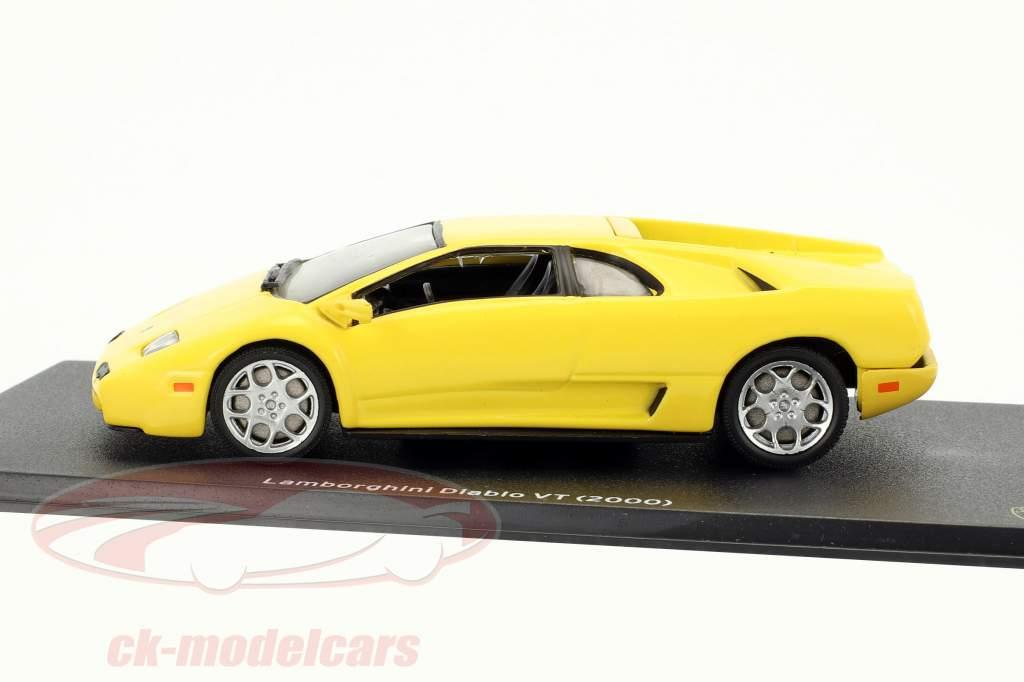 Lamborghini Diablo VT année de construction 2000 jaune 1:43 Leo Models