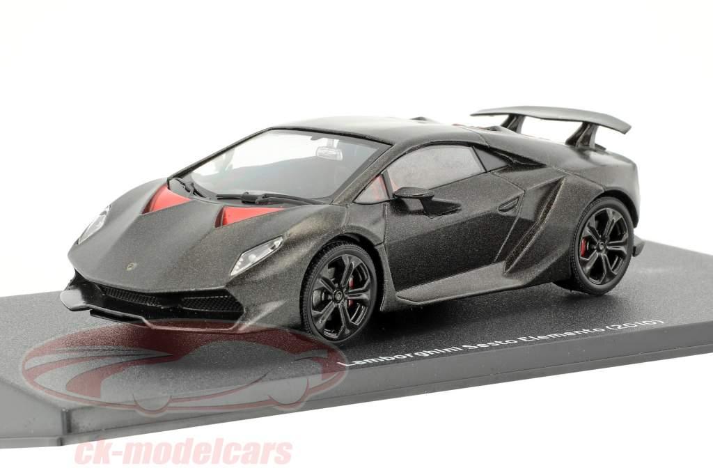 Lamborghini Sesto Elemento ano de construção 2010 preto 1:43 Leo Models