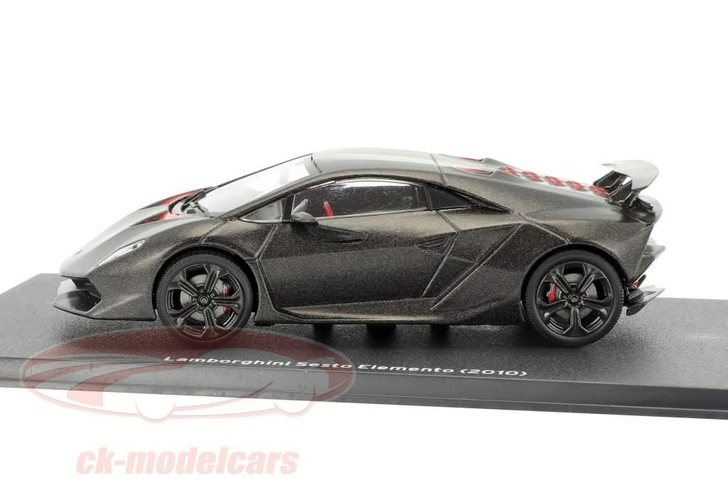 Lamborghini Sesto Elemento Bouwjaar 2010 zwart 1:43 Leo Models