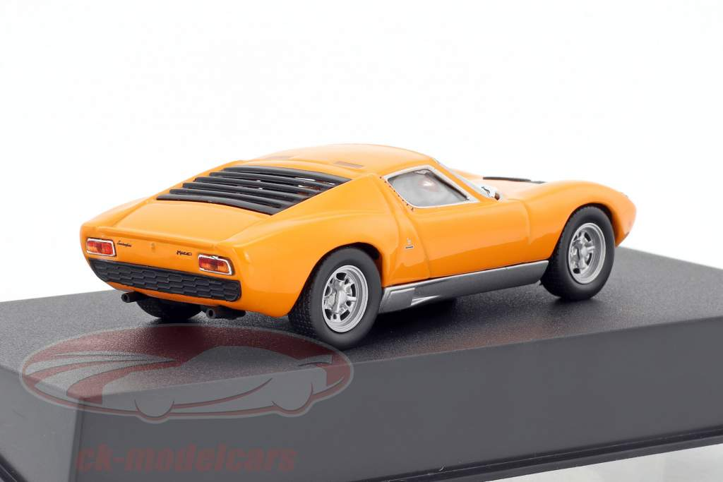Lamborghini Miura P400 Bouwjaar 1966 oranje 1:43 Leo Models