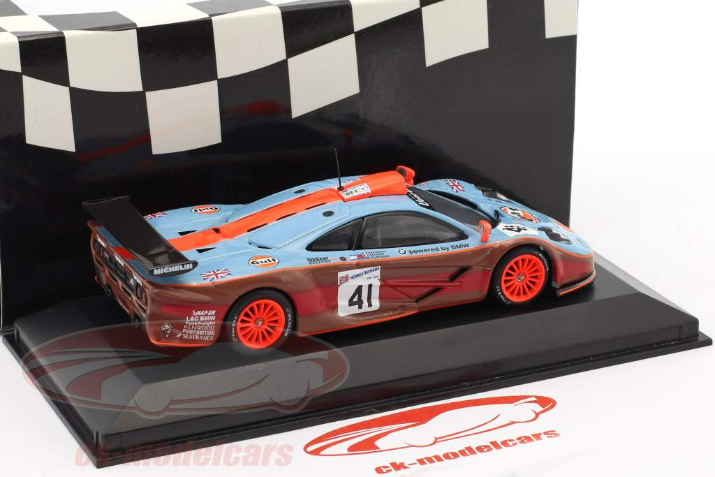 McLaren F1 GTR #41 2 ° 24h LeMans 1997 Gulf Team Davidoff 1:43 Minichamps falso imballaggio